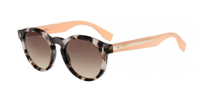 Gafas de sol Fendi FF 0085/S COLOR BLOCK HJU (JD) HAVANA/BEIGE / BROWN GRADIENT