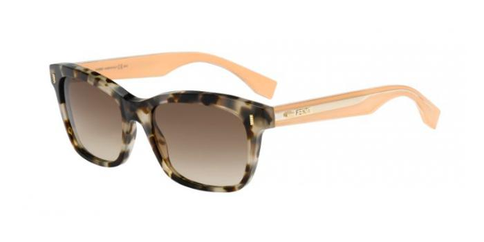 Gafas de sol Fendi FF 0086/S COLOR BLOCK HJU (JD) HAVANA/BEIGE / BROWN SHADED