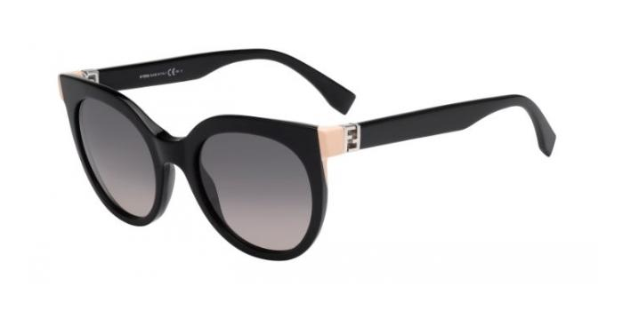 Gafas de sol Fendi FF 0129/S THE FENDISTA 29A (EU) SHINY BLACK / GREY GRADIENT