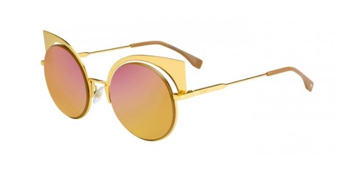 Gafas de sol Fendi FF 0177/S EYESHINE 001 (OJ) YELLOW GOLD / FUCHSIA GOLD MULTILAYER