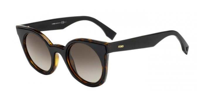 Gafas de sol Fendi FF 0196/S BE YOU LC1 (HA) HAVANA BLACK / BROWN GRADIENT