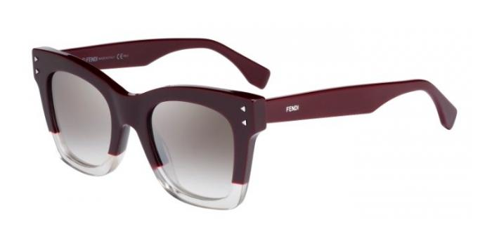 Gafas de sol Fendi FF 0237/S COLOR BLOCK LHF (NQ) OPLE BURG / BROWN SM SLV