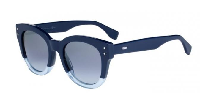 Gafas de sol Fendi FF 0239/S COLOR BLOCK PJP (GO) BLUE / GREY AZURE SILV