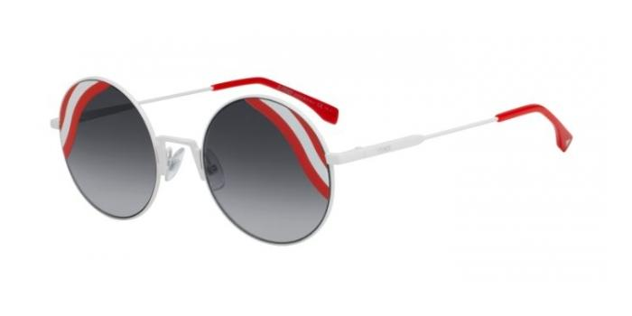 Gafas de sol Fendi FF 0248/S WAVES VK6 (9O) WHITE / DARK GREY SF