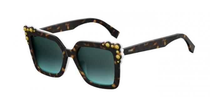 Gafas de sol Fendi FF 0260/S CAN EYE C9K (EQ) HVNA WHTE / GREEN AQUA