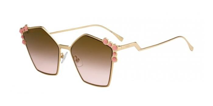 Gafas de sol Fendi FF 0261/S 000 (53) ROSE GOLD - BRW ROSE SF FLS