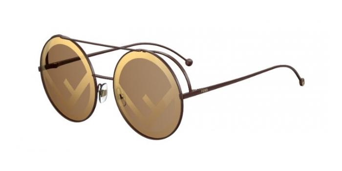Gafas de sol Fendi FF 0285/S 09Q (EB) BROWN - BROWM SP GOLD
