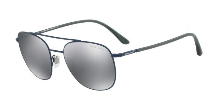 Gafas de sol Giorgio Armani AR6042 31716G MATTE BLUE - LIGHT GREY MIRROR BLACK