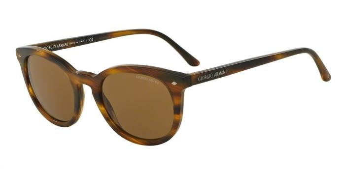 Gafas de sol Giorgio Armani AR8060 540453 STRIPED MATTE LIGHT BROWN - BROWN