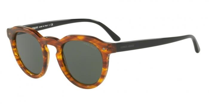Gafas de sol Giorgio Armani AR8093 559731 STRIPED LIGHT BROWN - GREEN