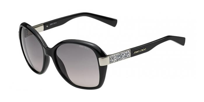 Gafas de sol Jimmy Choo ALANA/S D28 (EU) SHINY BLACK / GREY SF