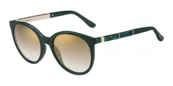 Gafas de sol Jimmy Choo ERIE/S 1ED (JL) GREEN - BROWN SS GLD