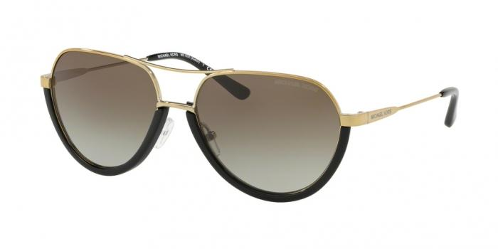 Gafas de sol Michael Kors MK1031 10248E BLACK/SHINY PALE GOLD-TONE - GREY GRADIENT