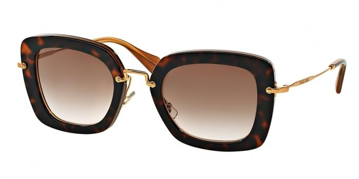 Gafas de sol MIU MIU MU 07OS KAZ0A6 TOP HAVANA ON OPAL - BROWN GRADIENT