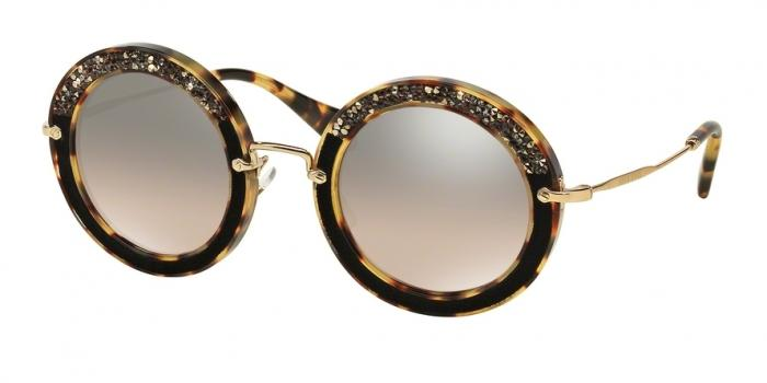 Gafas de sol MIU MIU MU 08RS 7S04P0 LIGHT HAVANA - BROWN MIRROR GRADIENT