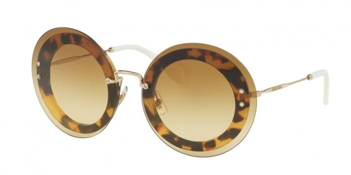 Gafas de sol MIU MIU MU 10RS REVEAL 7S01G0 LIGHT HAVANA - BROWN GRADIENT