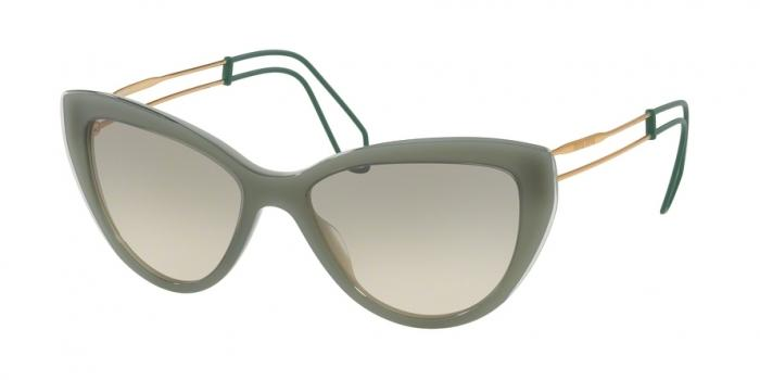 Gafas de sol MIU MIU MU 12RS USK3H2 GREEN/GREEN TRANSPARENT - LIGHT BROWN GRAD LIGHT GREEN