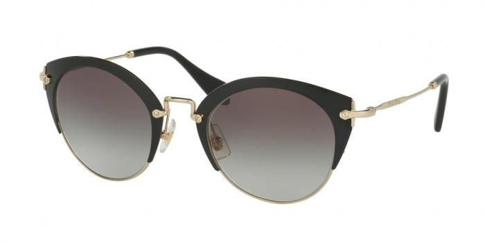 Gafas de sol MIU MIU MU 53RS 1AB0A7 BLACK/PALE GOLD - GREY GRADIENT