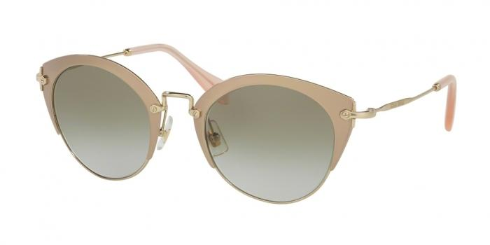 Gafas de sol MIU MIU MU 53RS UFD3H2 MIRROR PINK/PALE GOLD - LT BROWN GRAD LT GREEN