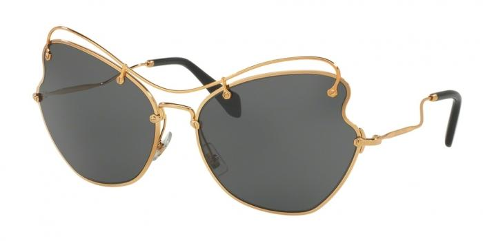 Gafas de sol MIU MIU MU 56RS 7OE1A1 ANTIQUE GOLD - GREY