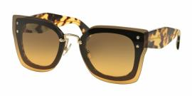 Gafas de Sol MIU MIU MU 04RS NAI0A3 TOP BLACK/LIGHT HAVANA - ORANGE GRADIENT LIGHT GREEN