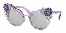 Gafas de Sol MIU MIU MU 04SS U695J0 TRANSPARENT LILAC - LIGHT GREY