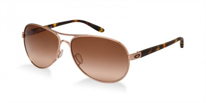 Gafas de sol Oakley OO4079 FEEDBACK 407901 ROSE GOLD - VR50 BROWN GRADIENT