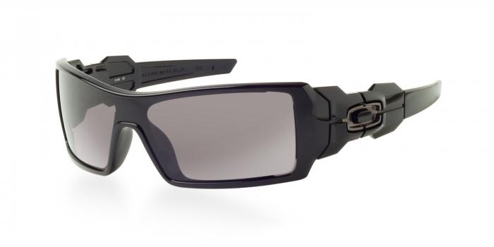 Gafas de sol Oakley OO9081 OIL RIG UPDATE 03-460 POLISHED BLACK - WARM GREY