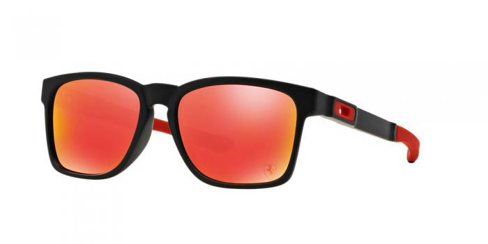 Gafas de sol Oakley OO9272 CATALYST 927207 MATTE BLACK - RUBY IRIDIUM