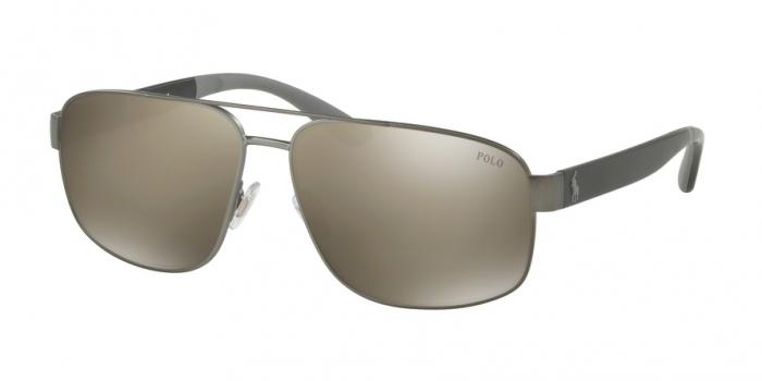 Gafas de sol Polo Ralph Lauren PH3112 91575A SEMISHINY DARK GUNMETAL - LIGHT BROWN MIRROR DARK GOLD