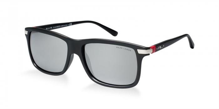 Gafas de sol Polo Ralph Lauren PH4084 AUTOMOTIVE EVOLUTION 52846G MATTE BLACK - GREY SILVER MIRROR
