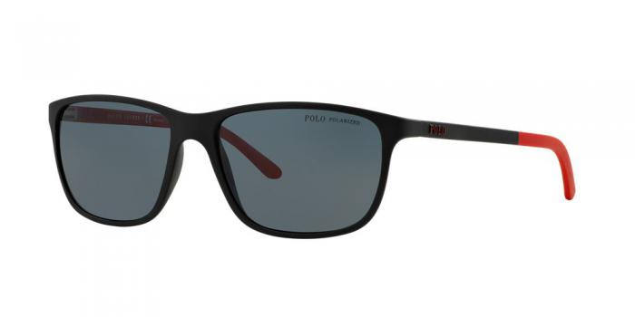 Gafas de sol Polo Ralph Lauren PH4092 550481 MATTE BLACK - POLAR GREY