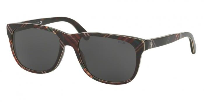 Gafas de sol Polo Ralph Lauren PH4116 562287 SHINY BLACK TARTAN - DARK GREY