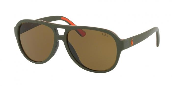 Gafas de sol Polo Ralph Lauren PH4123 521673 MATTE OLIVE ORANGE RUBBER - OLIVE