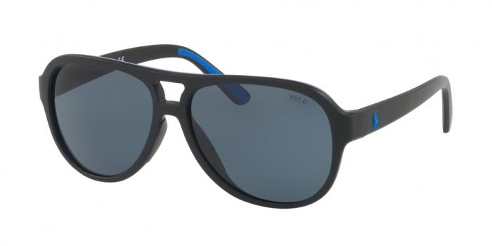 Gafas de sol Polo Ralph Lauren PH4123 562987 MATTE BLACK ROYAL BLUE RUBBER - GREY BLUE