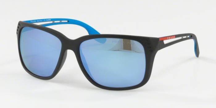 Gafas de sol Prada Linea Rossa PS 03TS 1BO2E0 MATTE BLACK - POLAR DARK GREY MIRROR WATER
