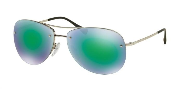Gafas de sol Prada Linea Rossa PS 50RS 1BC1M0 SILVER - LIGHT GREEN MIRROR GREEN