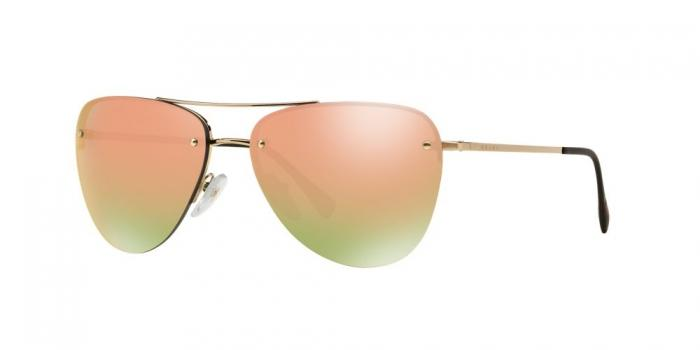 Gafas de sol Prada Linea Rossa PS 53RS ZVN5L2 PALE GOLD - GREY MIRROR ROSE GOLD