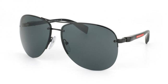 Gafas de sol Prada Linea Rossa PS 56MS 1BO1A1 BLACK DEMI SHINY - GRAY