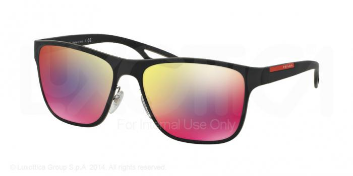 Gafas de sol Prada Linea Rossa PS 56QS LJ SILVER TFY9Q1 BLUE RUBBER - DARK GREY MIRROR BLUE/RED
