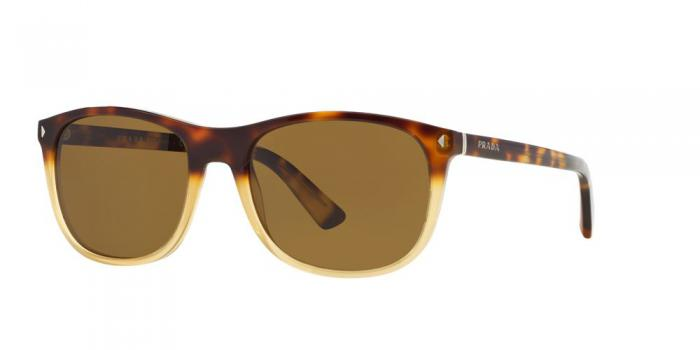 Gafas de sol Prada PR 01RS JOURNAL TKZ2P1 LIGHT HAVANA GRAD OPAL YELLOW - BROWN