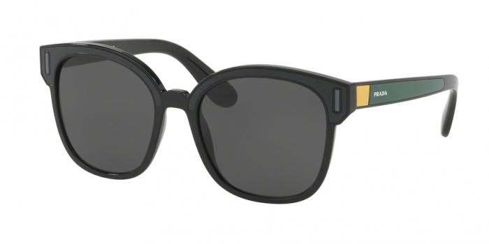 Gafas de sol Prada PR 05US 07E5S0 BLACK/GREY/YELLOW - GREY