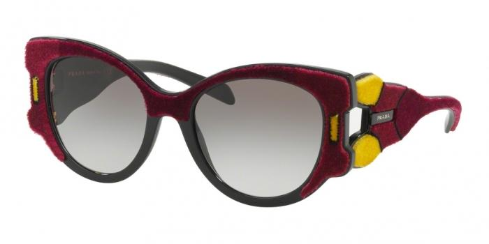 Gafas de sol Prada PR 10US I7Y0A7 BORDEAUX/YELLOW/BROWN - GREY GRADIENT