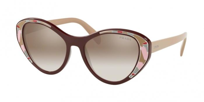 Gafas de sol Prada PR 14US LJ84O0 BORDEAUX - GRADIENT BROWN MIRROR SILVER