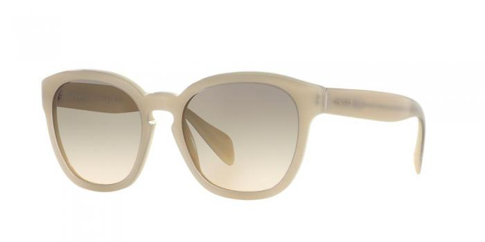 Gafas de sol Prada PR 17RS TKO3H2 OPAL IVORY/MATTE IVORY - LIGHT BROWN GRAD LIGHT GREEN