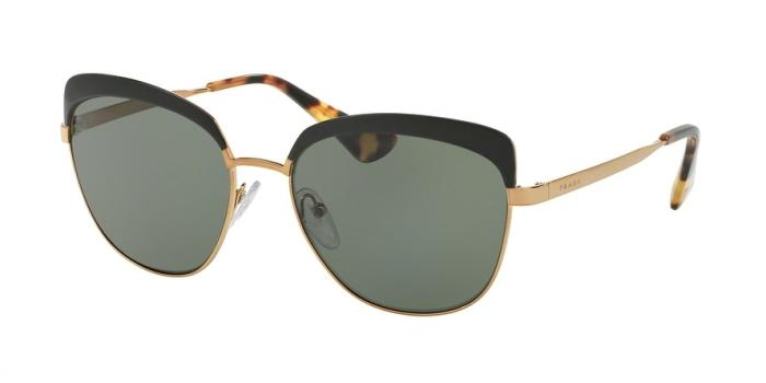 Gafas de sol Prada PR 51TS LAX5X1 ANTIQUE GOLD/BLACK - POLAR GREEN