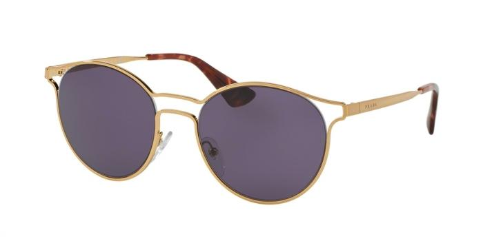 Gafas de sol Prada PR 62SS CINEMA 7OE6O2 ANTIQUE GOLD - VIOLET