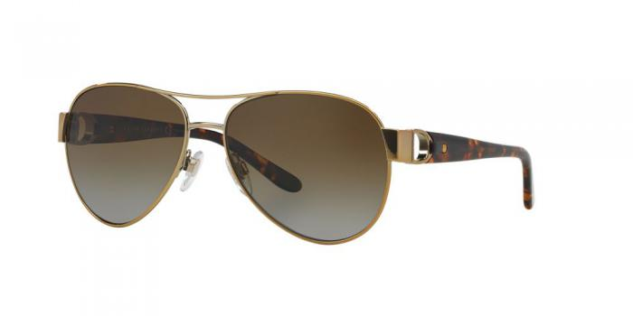 Gafas de sol Ralph Lauren RL7047Q 9116T5 SHINY PALE GOLD - GRADIENT BROWN POLAR