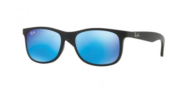 Gafas de sol Ray-Ban Junior RJ9062S 701355 MATTE BLACK ON BLACK - FLASH BLUE