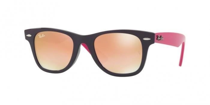 Gafas de sol Ray-Ban Junior RJ9066S 7021B9 VIOLET - GREEN GRAD. BROWN MIRROR PINK